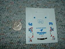 Manufacturer?  decals 1/64 #3 Wrangler Jeans red headed stranger blue white  E80