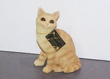 Red Tabby - Dinner Time - Cat Figurine - Conversation Concept