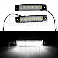 2X 6 LED Bus Boat Truck Trailer Side Marker Tail Light Lamp 12V White Waterproof