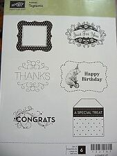 Stampin' Up! Clear Mount Stamp Hostess Set Tagtastic (set of 6) BNIB