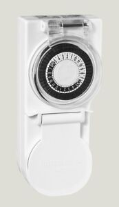 HPM Heavy Duty Outdoor Timer IP44 Weatherproof for Pools Pumps Christmas Lights