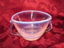 Fostoria pink opaline moonstone sugar bowl sliced bottom Seascape