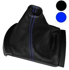 Soufflet de levier vitesse noir CUIR coutures bleues pour Seat Ibiza 2002-2008