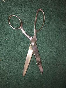 WISS Professional Model C Pinking Shears Zig Zag Cut Chrome Vintage Scissors