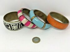 Job lot 4 Retro Vintage Statement  Chunky Brass Bangles