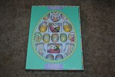 Easter Celebrations 16 Pc. Handpainted Wooden Ornament Set Bunnies Eggs Chicks