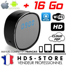 RVLIP5 ALARM CLOCK SPY CAMERA IP WIFI HD 720P + MICRO SD 16 GB 10 LEDS INVISIBLE
