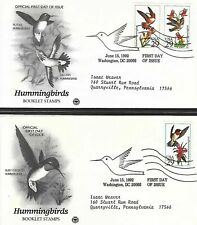 1992 3 First Day Covers, HUMMINGBIRDS,  First Day Cover Set of 3