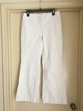 Kenneth Cole Womens White Jeans Flared Leg 30 x 31 Size 6 EUC