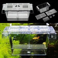 Aquarium Fish Tank Guppy Double Breeding Breeder Rearing Trap Box Hatchery