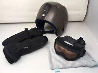 Unisex Youth / Jr. Lot Of 3 Pieces: Giro Snow Goggles; Boeri Ski Helmet; Mittens