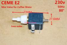 Italy CEME E2 230V small Water Valve Coffee Machine Water Valve Solenoid Valve