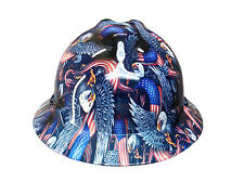 Hydrographic Eagle Flag MSA V-Guard Full Brim Hard Hat