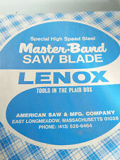 LENOX ELECTRON WELD HI SPD STEEL BAND SAW BLADE 11' 5