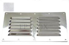 Grille Avec Moustiquaire inox 232mm x 117mm inox 316 Grille aération