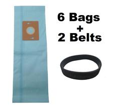 6 Vacuum Bags For Riccar Supralite Simplicity Freedom F Bag F3500 RSL1 + 2 Belts