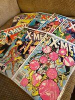 Uncanny X-Men 188 189 190 191 194 195 197 198 Bronze Age Marvel lot run key