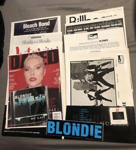 Promotional Press Kit Bio Blondie Debbie Harry CD Release No Exit 1998 Rare Pro