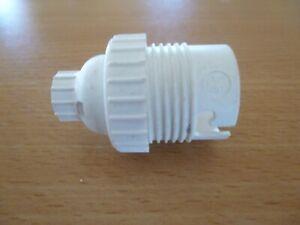 DOUILLE ELECTRIQUE PLASTIQUE BAIONNETTE NEUVE LAMPE SUSPENSION  VINTAGE 2