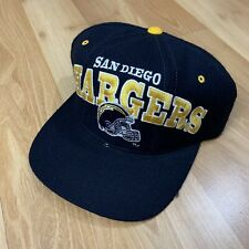 Vintage San Diego Chargers Tri Power Starter Snapback Hat NFL 90s Navy Football