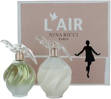 L'Air By Nina Ricci For Women Set: EDT 3.4oz + 6.8oz Body Lotion New