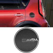 Fuel Tank Door Cap Cover Black Carbon Decal Sticker for KIA 2014-2016 2017 Soul