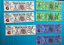 PORTLAND TRAIL BLAZERS 1975-78 TICKET LOT 0f 7