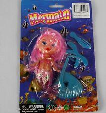 """Mermaid vintage doll 5"""" long mermaid Nib-Pink"""