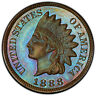 1888 1c PCGS PR 65 BN CAC ~ GEM PROOF INDIAN CENT COLOR COIN