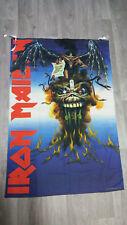 Iron Maiden the evil that men do 1988 Vintage music logo poster FLAG