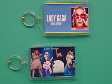 LADY GAGA - Joanne World Tour - with 2 Photos - Collectible GIFT Keychain 06
