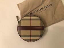 Burberry Wallet Purse Coin Purse Beige Burgundy Woman Authentic Used