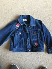 Girls Denim Jacket Age 3 From Adams Embroidered With Beads