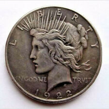 Two Sided include 1922 and Peace Silver Dollar Coin Headed Coin
