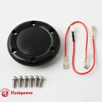 Billet Horn Button for 6 Bolt Steering Wheel Flashpower MoMo NRG Black Anodised