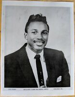 CHICAGO BLUES PUBLICITY PHOTO: OTIS RUSH Cobra Recording Artist b&w repro