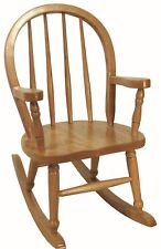 Childs Bow Back Rocking Chair Amish Made Solid Oak Wood Kids Rocker!