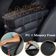 1PC Black Car Seat Center Armrest Heighten Pad Cushion PU+Memory Foam Adjustable