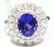 5.24CT 14K Gold Natural Tanzanite White Diamond Vintage AAAA Engagement Ring