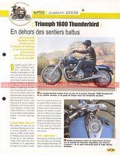 TRIUMPH 1600 Thunderbird 2009 Joe Bar Team Fiche Moto #007597