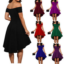 Off the Shoulder High Low Prom Dress Formal Evening Wedding Party Cocktail Dress