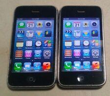 Lot of 2 Apple iPhone 3GS 32GB Black A1303 (AT&T), BAD POWER BUTTON AND VIBRATOR