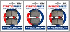 Yamaha FZR 250 87-88 Front & Rear Brake Pads Full Set (3 Pairs)