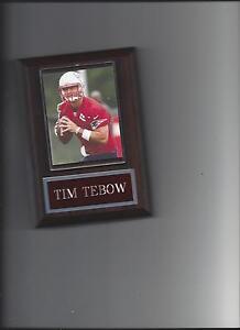 TIM TEBOW PLAQUE NEW ENGLAND PATRIOTS FOOTBALL NFL