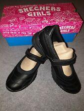 Skechers Girls UK Size 1 Black School Shoes