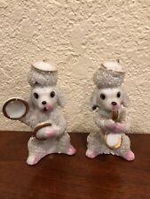 Vintage Poodle Dog Figurine Japan 3.5� Band Instruments