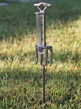 """Garden Fork Rain Gauge 5"""" Country Yard Garden Rustic Decor"""