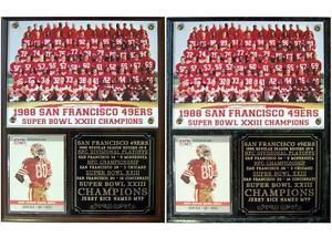 San Francisco 49ers 1988 Super Bowl XXIII Champions Photo Card Plaque