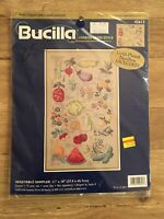 """Bucilla Counted Cross Stitch Kit 2000 Vegetable Sampler 11x18""""  NEW"""