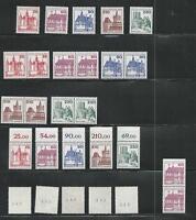 Berlín Perfecto Estado Castillos Y Castillos De 1978/79 MiNr.587-590, 611C + D